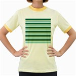 Stripey 14 Women s Fitted Ringer T-Shirt Front