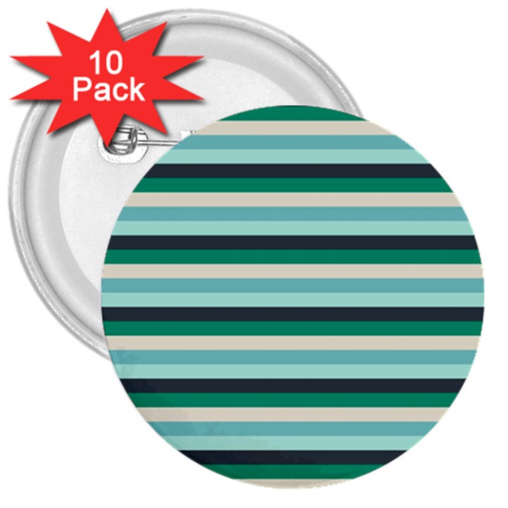 Stripey 14 3  Buttons (10 pack)