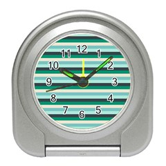 Stripey 14 Travel Alarm Clock by anthromahe