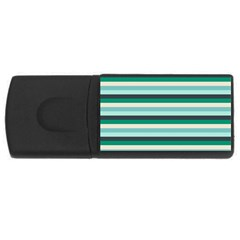 Stripey 14 Rectangular Usb Flash Drive by anthromahe