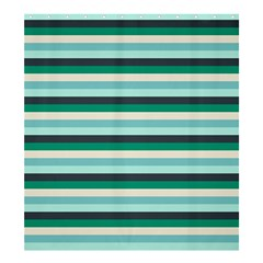 Stripey 14 Shower Curtain 66  X 72  (large)