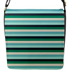 Stripey 14 Flap Closure Messenger Bag (s) by anthromahe