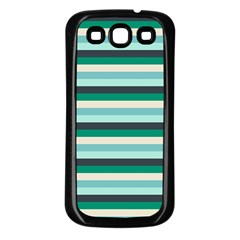 Stripey 14 Samsung Galaxy S3 Back Case (black) by anthromahe
