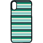 Stripey 14 iPhone X Seamless Case (Black) Front