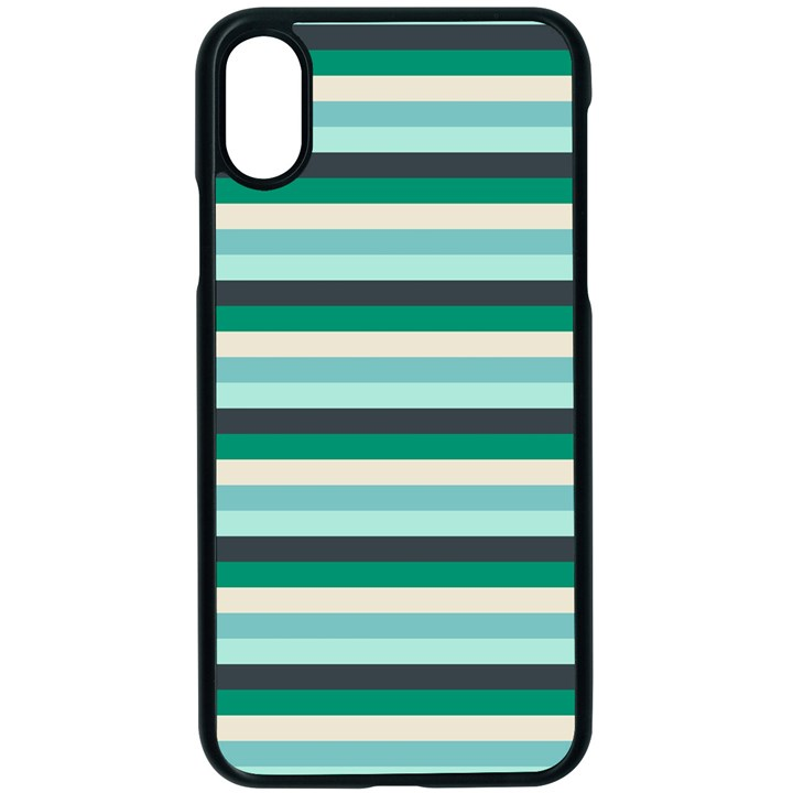Stripey 14 iPhone X Seamless Case (Black)