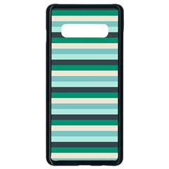 Stripey 14 Samsung Galaxy S10 Plus Seamless Case (black) by anthromahe