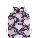Navy Floral Hearts Full Print Apron Front