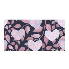 Navy Floral Hearts Satin Wrap by mccallacoulture