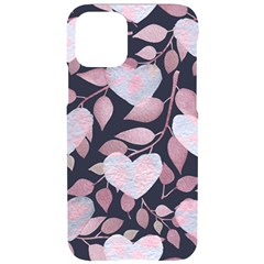 Navy Floral Hearts Iphone 11 Pro Black Uv Print Case by mccallacoulture