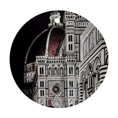 Santa Maria Del Fiore  Cathedral At Night, Florence Italy Ornament (round) by dflcprints