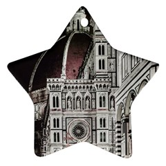Santa Maria Del Fiore  Cathedral At Night, Florence Italy Ornament (star) by dflcprints