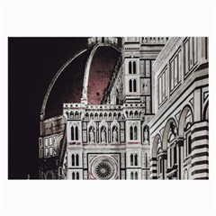 Santa Maria Del Fiore  Cathedral At Night, Florence Italy Large Glasses Cloth (2 Sides) by dflcprints