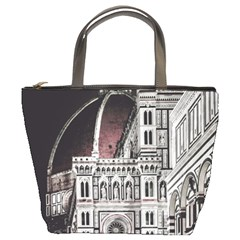 Santa Maria Del Fiore  Cathedral At Night, Florence Italy Bucket Bag by dflcprints