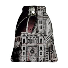 Santa Maria Del Fiore  Cathedral At Night, Florence Italy Bell Ornament (two Sides) by dflcprints