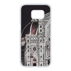 Santa Maria Del Fiore  Cathedral At Night, Florence Italy Samsung Galaxy S7 Edge White Seamless Case by dflcprints
