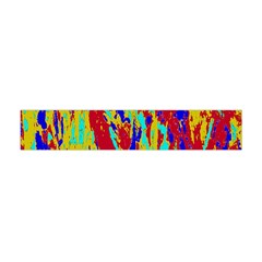 Multicolored Vibran Abstract Textre Print Flano Scarf (mini) by dflcprintsclothing