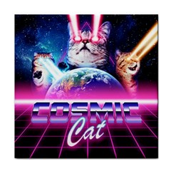 Cosmic Cat Tile Coaster