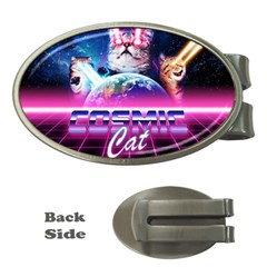 Cosmic Cat Money Clips (oval)
