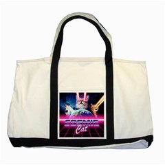 Cosmic Cat Two Tone Tote Bag