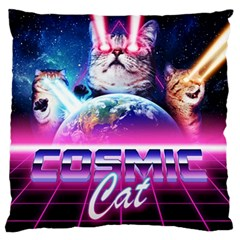 Cosmic Cat Large Flano Cushion Case (two Sides)