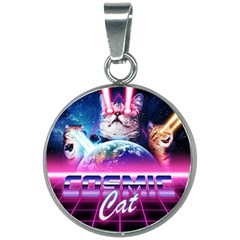 Cosmic Cat 20mm Round Necklace