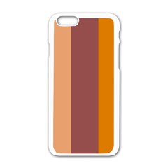 Stripey 15 Iphone 6/6s White Enamel Case by anthromahe