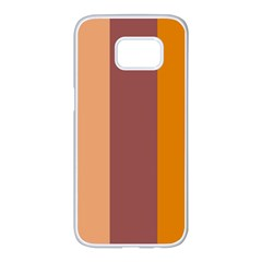 Stripey 15 Samsung Galaxy S7 Edge White Seamless Case by anthromahe