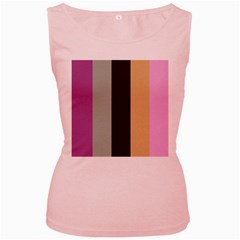 Stripey 16 Women s Pink Tank Top by anthromahe