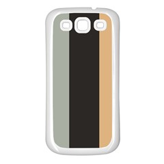 Stripey 16 Samsung Galaxy S3 Back Case (white) by anthromahe