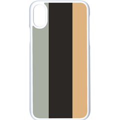 Stripey 16 Iphone X Seamless Case (white) by anthromahe