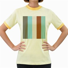 Stripey 17 Women s Fitted Ringer T-shirt by anthromahe