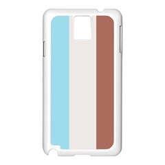 Stripey 17 Samsung Galaxy Note 3 N9005 Case (white) by anthromahe