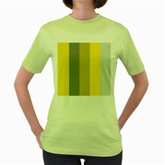 Stripey 21 Women s Green T-shirt by anthromahe