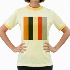 Stripey 22 Women s Fitted Ringer T-shirt by anthromahe