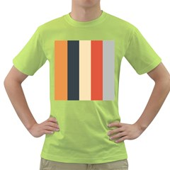 Stripey 22 Green T-shirt by anthromahe