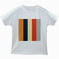 Stripey 22 Kids White T Shirts by anthromahe