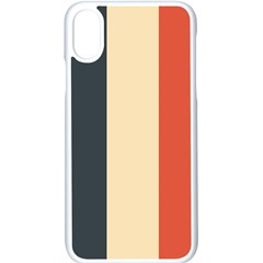 Stripey 22 Iphone Xs Seamless Case (white) by anthromahe