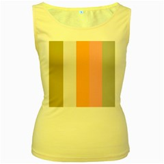 Stripey 23 Women s Yellow Tank Top by anthromahe