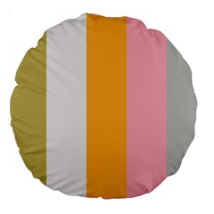 Stripey 23 Large 18  Premium Round Cushions by anthromahe
