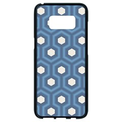 Blue Hexagon Samsung Galaxy S8 Black Seamless Case