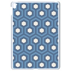 Blue Hexagon Apple Ipad Pro 9 7   White Seamless Case