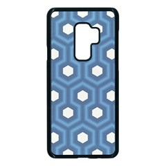 Blue Hexagon Samsung Galaxy S9 Plus Seamless Case(black)