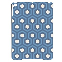 Blue Hexagon Apple Ipad Pro 9 7   Black Uv Print Case
