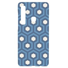 Blue Hexagon Samsung A9 Black Uv Print Case