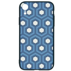Blue Hexagon Iphone Xr Soft Bumper Uv Case