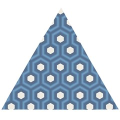 Blue Hexagon Wooden Puzzle Triangle