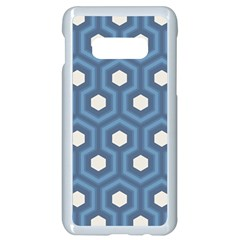 Blue Hexagon Samsung Galaxy S10e Seamless Case (white)