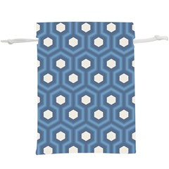 Blue Hexagon  Lightweight Drawstring Pouch (xl)