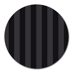 Black Stripes Round Mousepads