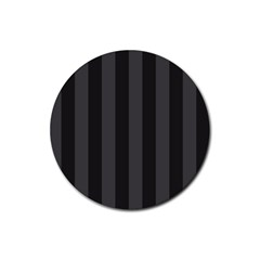 Black Stripes Rubber Round Coaster (4 Pack)
